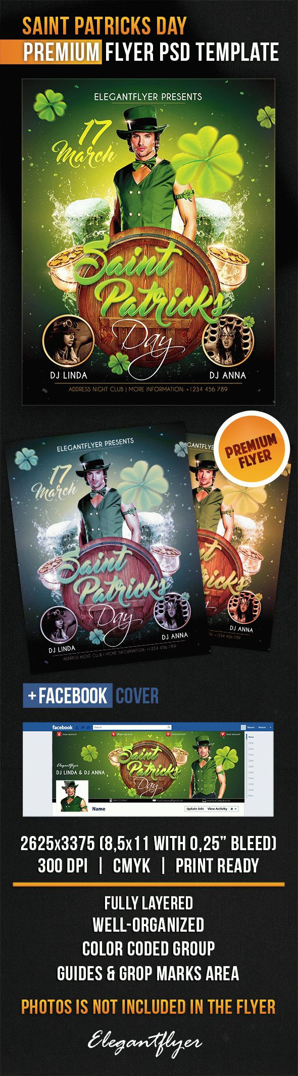 Template PSD For Saint Patricks Day