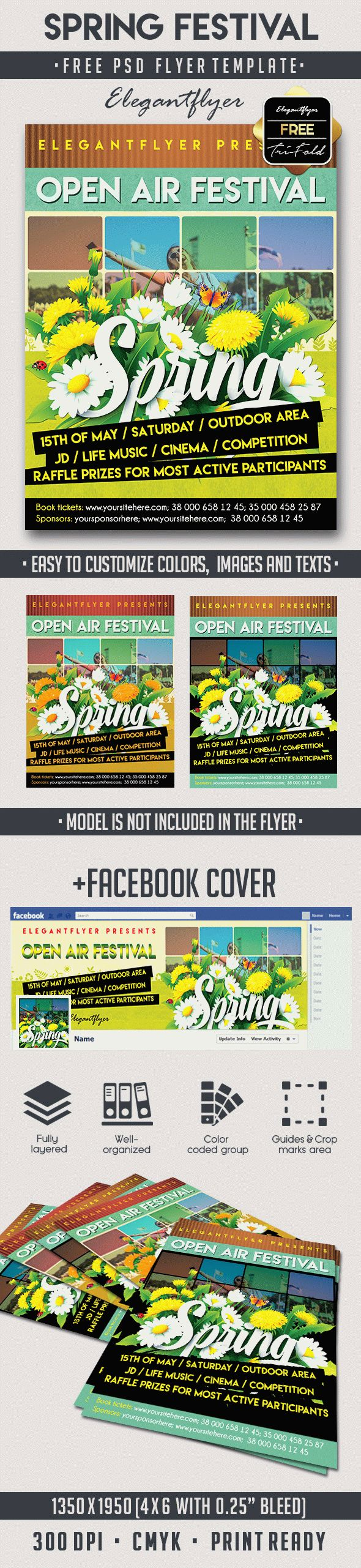 spring festival psd flyer template by elegantflyer spring festival psd flyer template