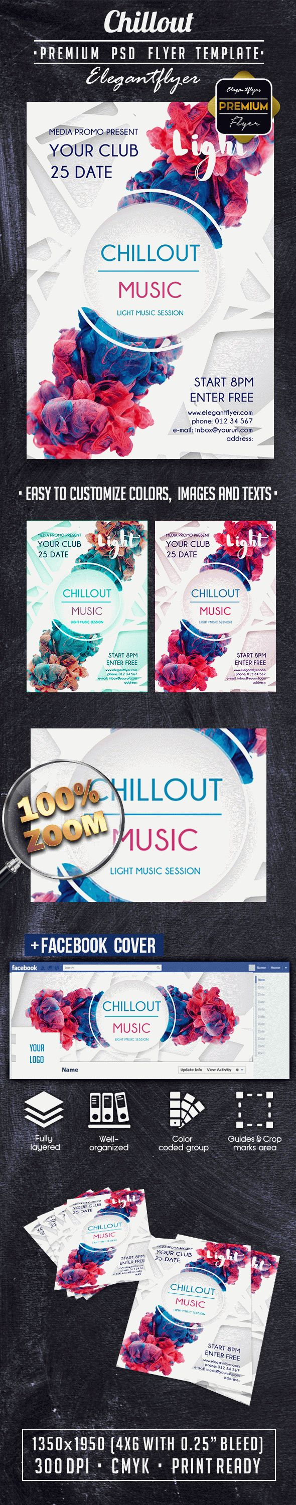 Chillout PREMIUM Flyer PSD Template