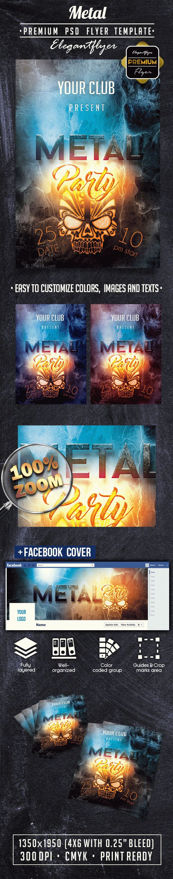 Metal PREMIUM Flyer PSD Template