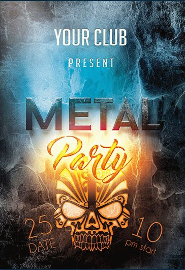 Minimal Party PREMIUM Flyer PSD Template + Facebook Cover