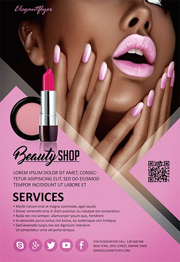 Beauty Shop Flyer Psd Template By Elegantflyer