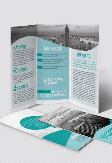 Spa Salon – Tri-Fold Brochure PSD Template