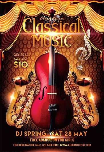 Classical music – Free Flyer PSD Template