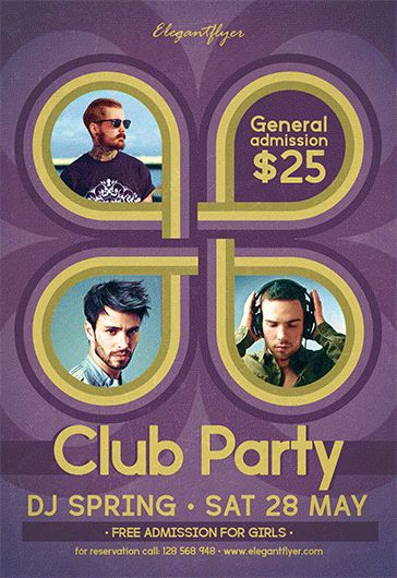 Club Party V02 – Free Flyer PSD Template