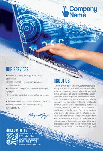 Computer Technology – Flyer PSD Template