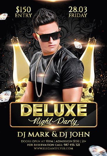 Deluxe Night Party – Flyer PSD Template