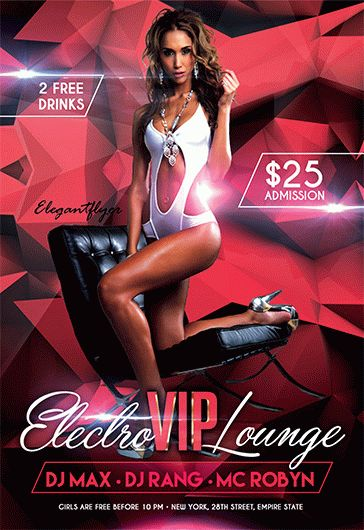 Champagne Party – Flyer PSD Template + Facebook Cover