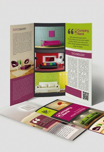 Cheese Shop – Tri-Fold Brochure PSD Template