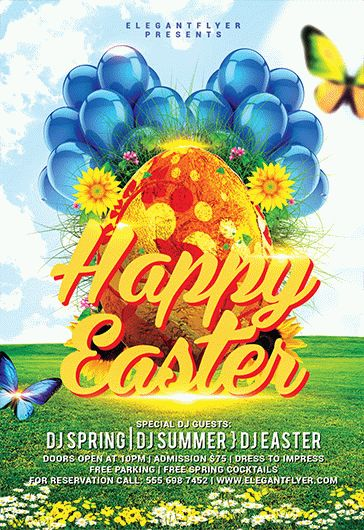 Happy Easter Egg Hunt For Kids – Flyer PSD Template + Facebook Cover