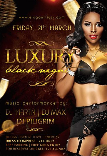 Deluxe Night Party – Flyer PSD Template + Facebook Cover