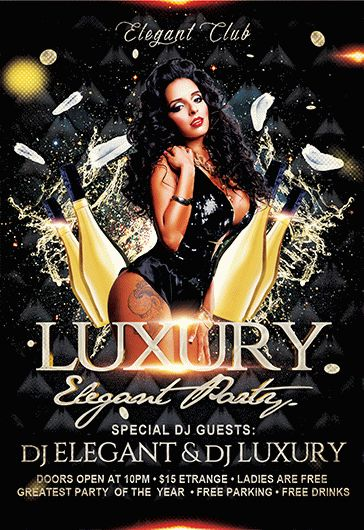 Luxury Party – Flyer PSD Template + Facebook Cover