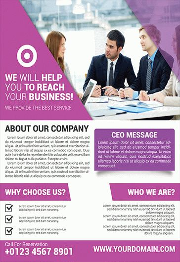 Marketing Agency – Flyer PSD Template