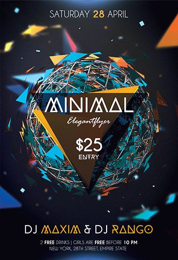 Minimal Party – Flyer PSD Template