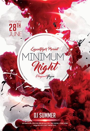 Minimum Night – Flyer PSD Template
