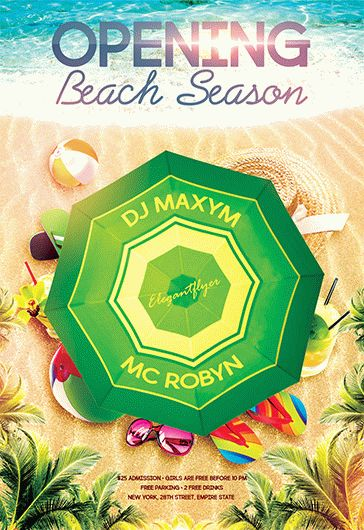 Opening Beach Season – Flyer PSD Template