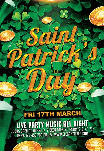 Patricks Day – Flyer PSD Template