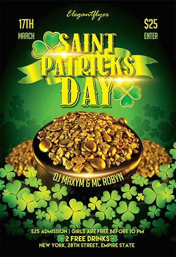 St. Patrick Event – Flyer PSD Template + Facebook Cover