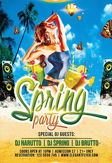 Spring Cocktail Party PSD Flyer