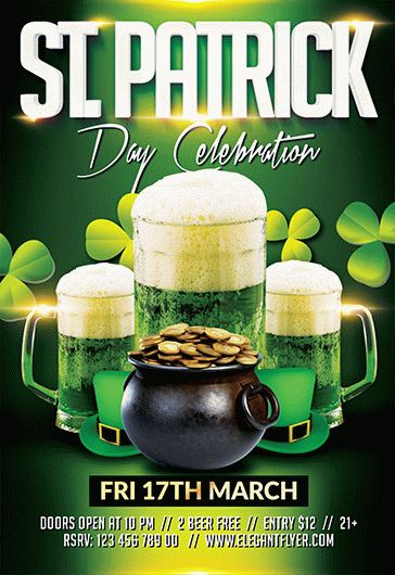 Saint Patrick Day – Flyer PSD Template + Facebook Cover