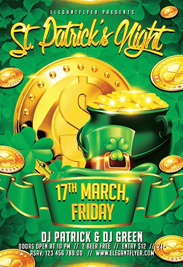 st  patricks party  u2013 flyer psd template  u2013 by elegantflyer