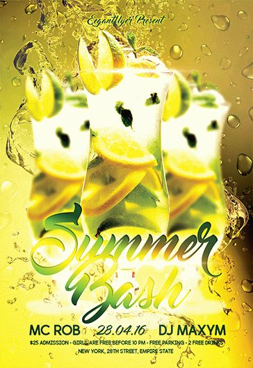 Summer Bash – Flyer PSD Template