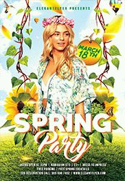 Spring Break Party – PSD Flyer Templates + Facebook Cover