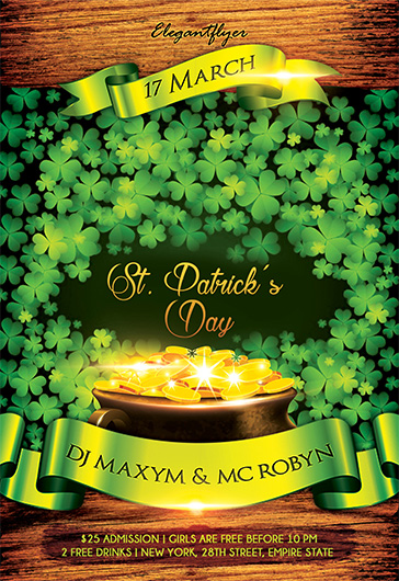 St. Patrick's Day Party – Flyer PSD Template
