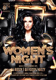 Women's Night – Free Flyer PSD Template