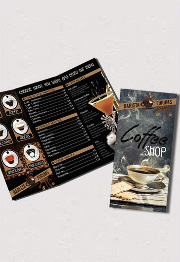 Coffee Shop – Tri-Fold PSD Brochure Template