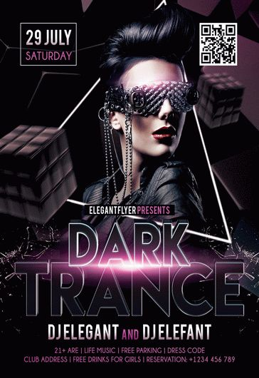 Dark Trance – Flyer PSD Template