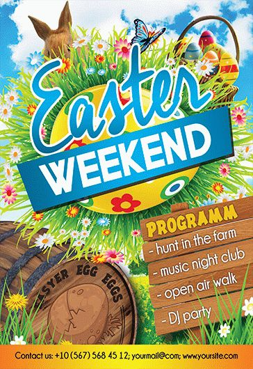 Easter Weekend – Free Flyer PSD Template