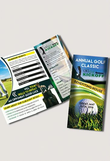 Tri-Fold Template for Golf Tournament