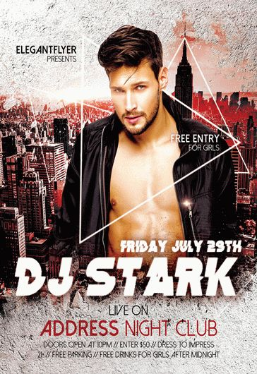 DJ Guest Program – Flyer PSD Template
