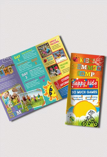 Kids Summer Camp Flyer PSD Template By ElegantFlyer - Summer camp brochure template