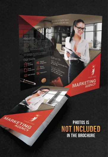 Tri-Fold Brochure for Marketing Agency Theme