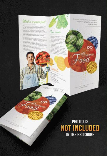 Organic Food – Tri-Fold Brochure Psd Template – By Elegantflyer