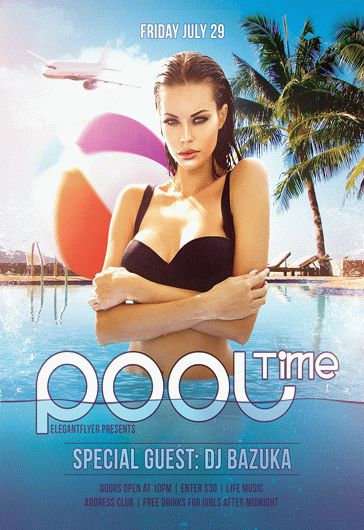 Pool Time – Flyer PSD Template