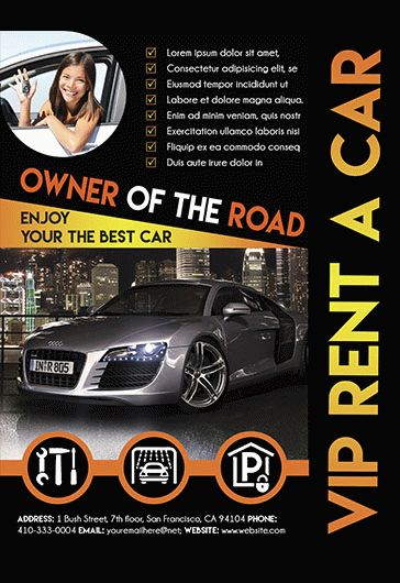 rent a car flyer � by elegantflyer