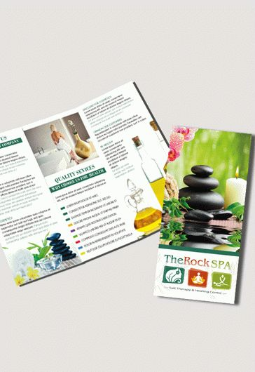 Spa Free Psd TriFold Psd Brochure Template  By Elegantflyer