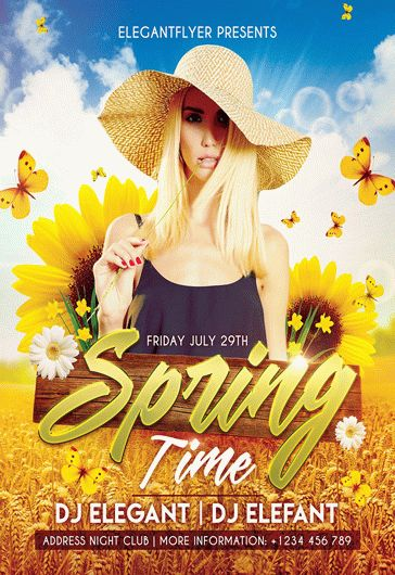 Spring Party – Flyer PSD Template + Facebook Cover