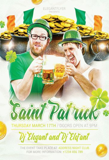 St. Patrick Event – Flyer PSD Template