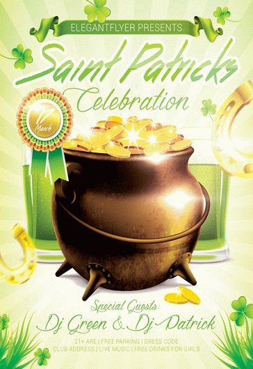 Saint Patrick Party – Flyer PSD Template + Facebook Cover