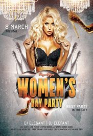 Women's Day Party – Flyer PSD Template + Facebook Cover