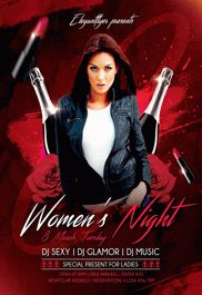 Women's Night – Flyer PSD Template