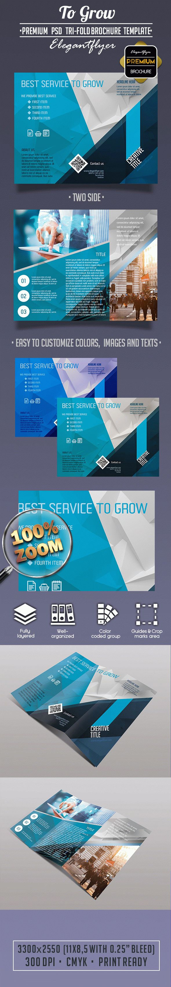 To Grow PSD Tri-Fold Brochure