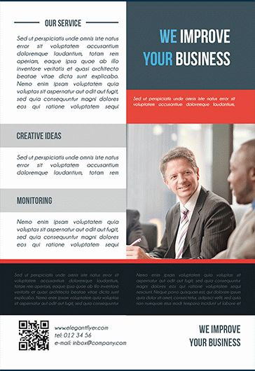 We Improve free Business Flyer PSD Template