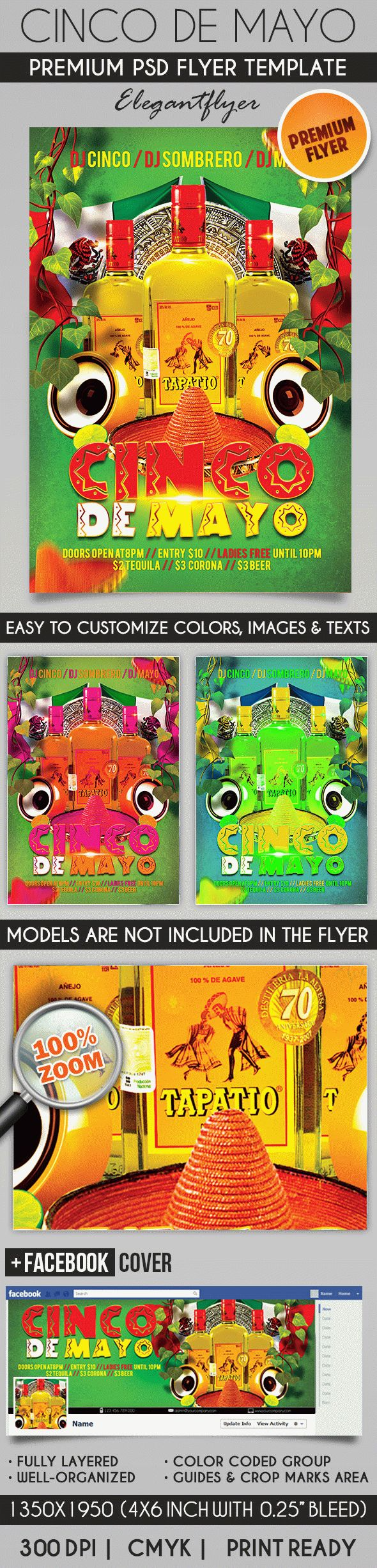 Happy Cinco de Mayo PSD Flyer