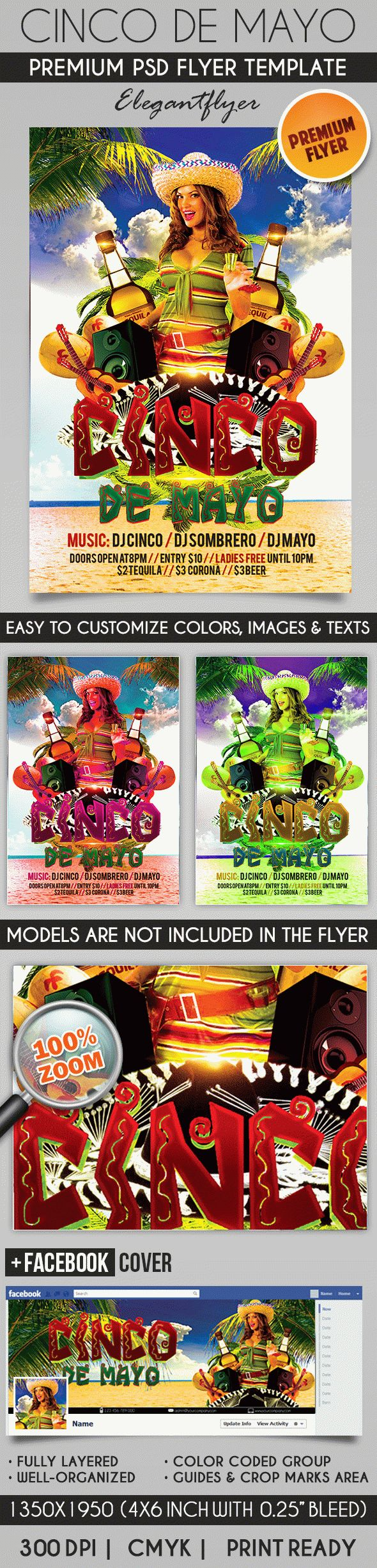 Cinco De Mayo Celebration Flyer in PSD