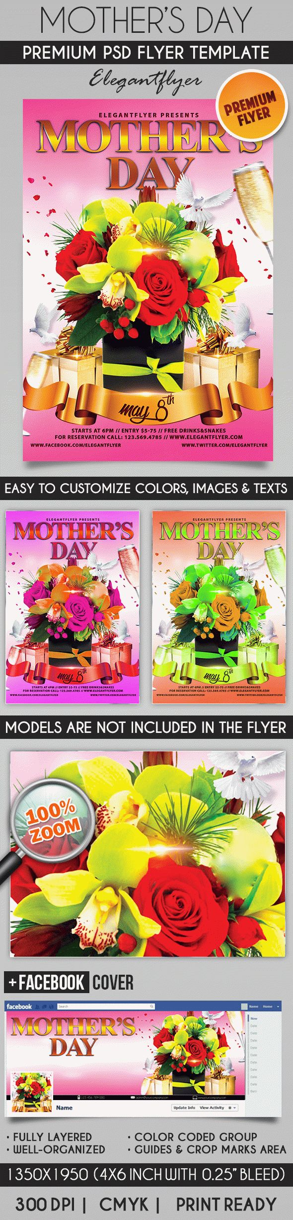 Mother Day Poster Template
